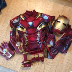 Child small Iron Man deluxe costume set